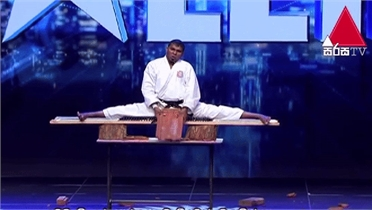 Võ sư karate ngã lộn cổ vì biểu diễn thiết đầu công