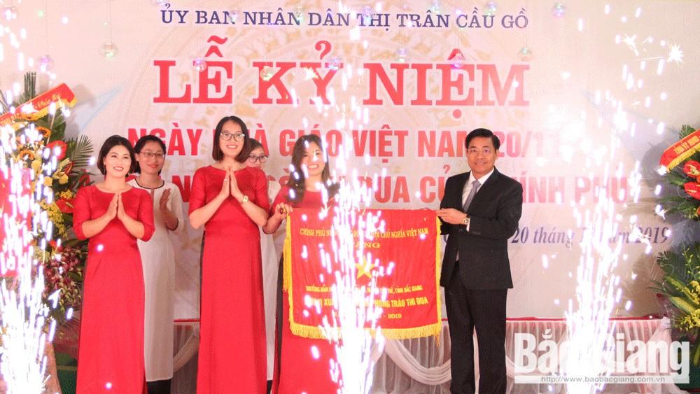 Chủ tịch tỉnh, Dương Văn Thái, chúc mừng, sở giáo dục, 20-11