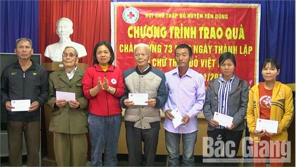 Hội Chữ thập đỏ huyện Yên Dũng (Bắc Giang): Nhiều hoạt động chia sẻ yêu thương