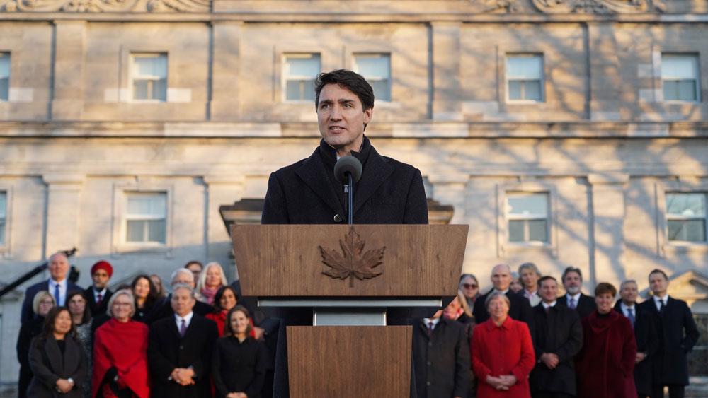 Canada, công bố nội các mới, Thủ tướng Trudeau