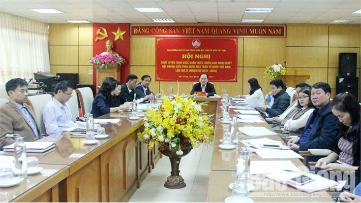 Triển khai Nghị quyết Đại hội đại biểu toàn quốc MTTQ Việt Nam lần thứ IX