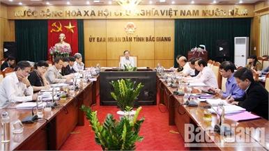 Thẩm định một số nội dung trình BTV Tỉnh ủy, HĐND tỉnh Bắc Giang tại kỳ họp thứ 9