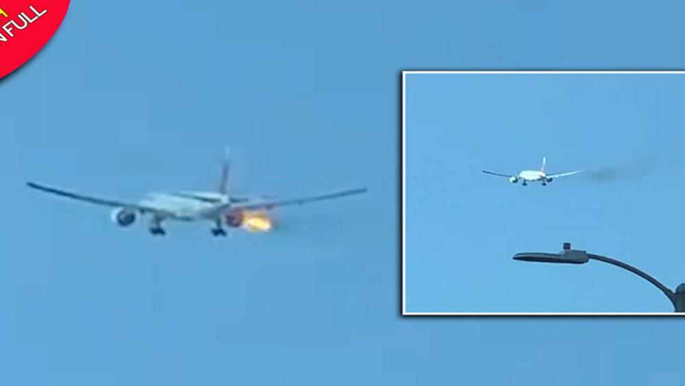 Máy bay Philippines, cháy động cơ giữa trời
