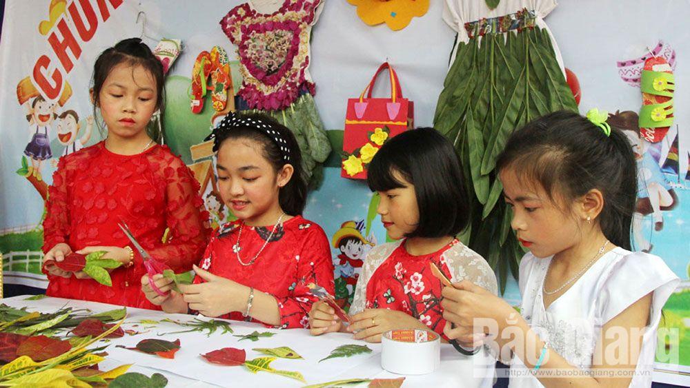 học sinh, giáo viên, sáng tạo, vẽ tranh, Bắc Giang, thiêu nhi, cuộc thi