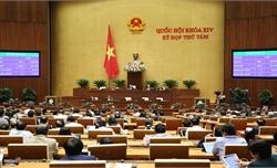 Thông qua 3 luật và miễn nhiệm Chủ nhiệm Ủy ban Pháp luật, phê chuẩn việc miễn nhiệm Bộ trưởng Bộ Y tế