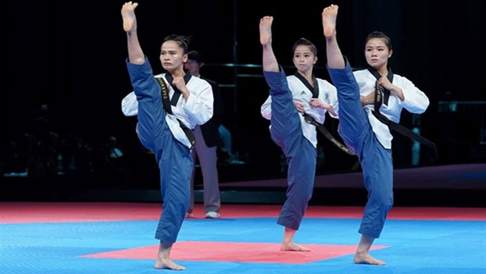 Taekwondo performers, gold medal, SEA Games, Vietnamese taekwondo team, weight categories