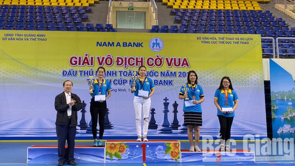 Bac Giang province, medals, national chess championship, chess players,  standard and blitz chess, Bac Giang team, national team