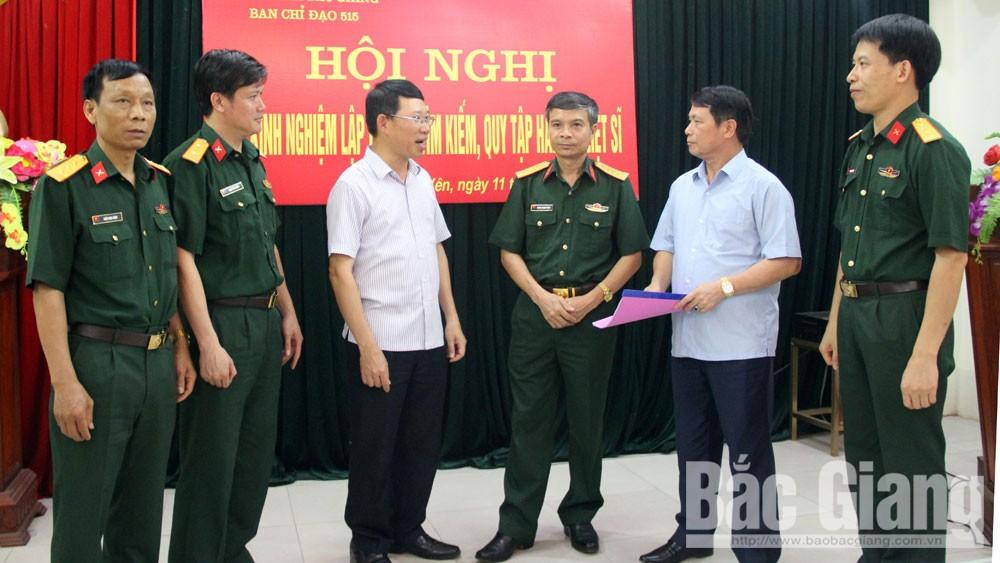 Bắc Giang: Hoàn thành kết luận địa bàn lập bản đồ tìm kiếm, quy tập hài cốt liệt sĩ