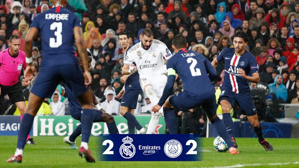 Real Madrid đánh rơi chiến thắng trước PSG