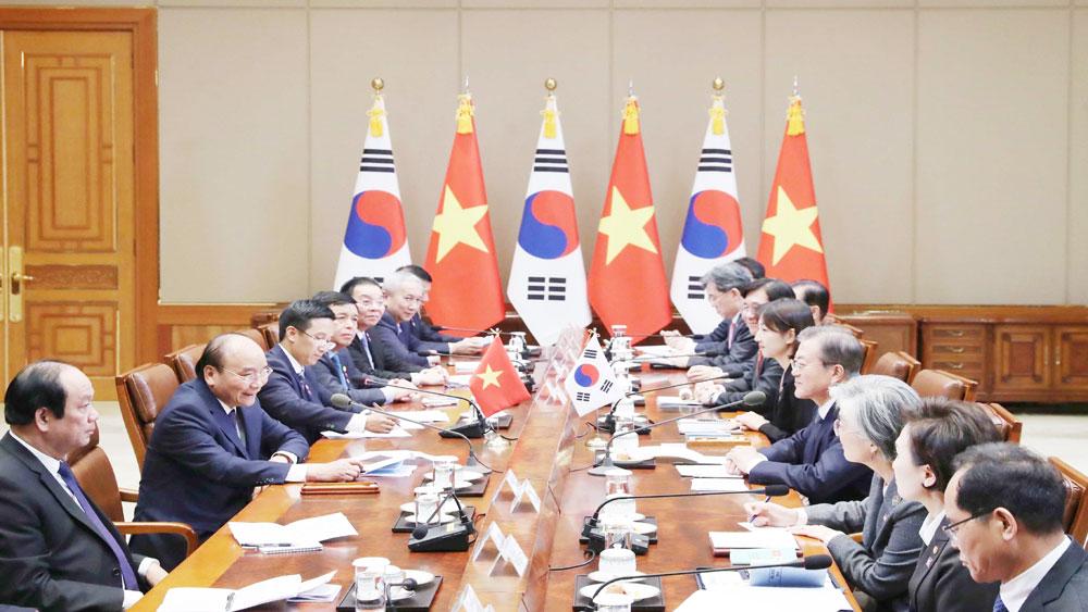 Thủ tướng Chính phủ Nguyễn Xuân Phúc, hội đàm, Tổng thống Hàn Quốc Moon Jae-in