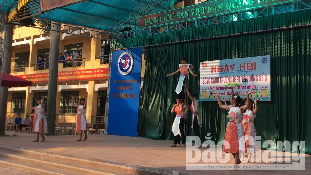 Yên Dũng, ngày hội, sống xanh, rác thải nhựa, Bắc Giang