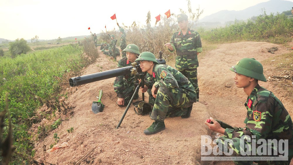 Bắc Giang, khu vực phòng thủ,  lực lượng dự bị, diễn tập