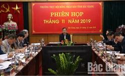 Thường trực HĐND tỉnh Bắc Giang: Rà soát, chuẩn bị tốt cho kỳ họp thứ 9, HĐND tỉnh khóa XVIII từ ngày 9 đến 11-12-2019