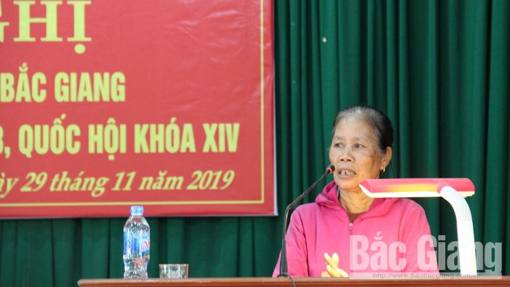 Đại biểu Quốc hội, tỉnh Bắc Giang; tiếp xúc cử tri; Lạng Giang; Quang Thịnh; Nguyễn Thị Thu Hà, Bắc Giang