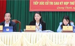 Đại biểu Quốc hội tiếp xúc cử tri tại Lạng Giang
