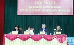 Cử tri hai huyện Tân Yên, Hiệp Hoà kiến nghị tăng cường giải pháp phòng, chống tham nhũng, bảo vệ môi trường