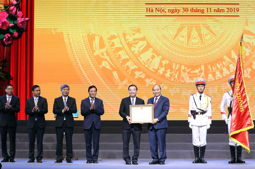 Thủ tướng Nguyễn Xuân Phúc, Lễ kỷ niệm 60 năm, thành lập Bộ Khoa học và Công nghệ, trao tặng, Huân chương Lao động hạng Nhất