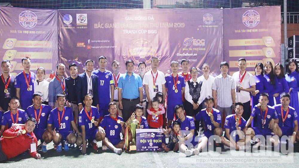 Bắc Giang, giải bóng đá Bắc Giang League năm 2019, Civilzed