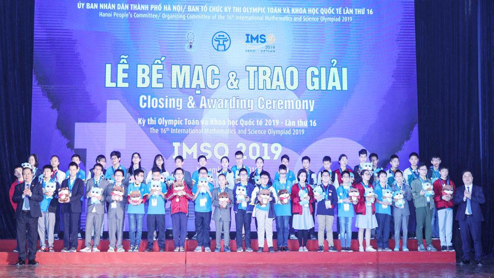 Kỳ thi Olympic Toán và Khoa học quốc tế - IMSO 2019, Đoàn học sinh Việt Nam, 15 Huy chương Vàng, 14 Huy chương Bạc, 7 Huy chương Đồng