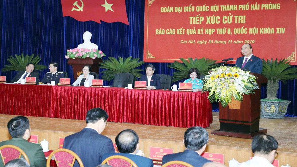 Thủ tướng Nguyễn Xuân Phúc, tiếp xúc cử tri ,huyện Cát Hải, thành phố Hải Phòng