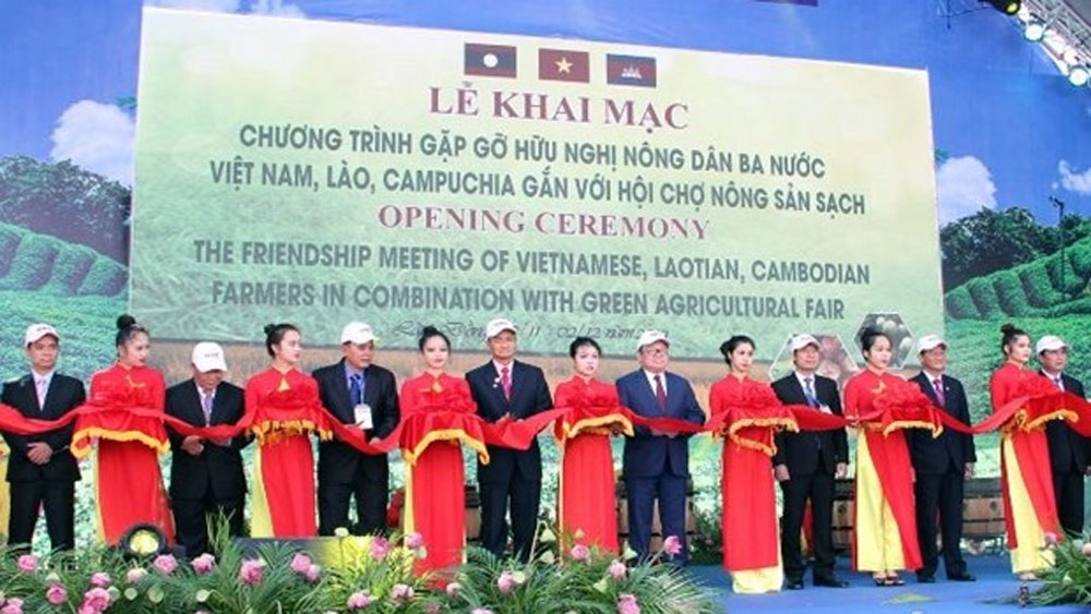 Vietnamese, Lao, Cambodian farmers, clean agriculture, exchange programme,  agricultural product production, farming technique, varieties and technology