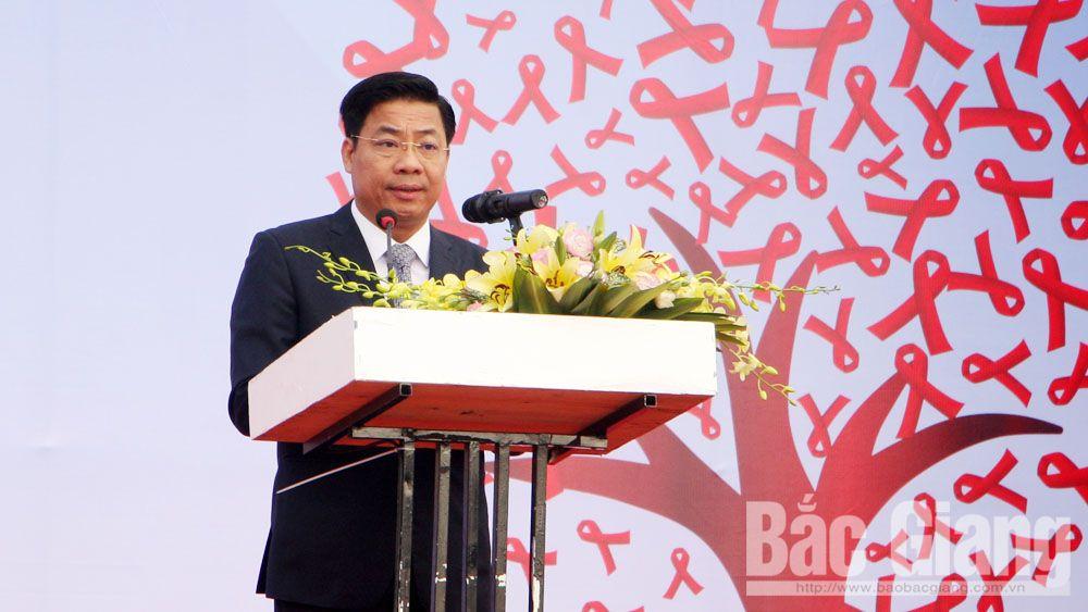 mít tinh phòng chống AIDS, Bắc Giang, Phó Thủ tướng Vũ Đức Đam, báo bắc giang, báo bắc giang tin mới