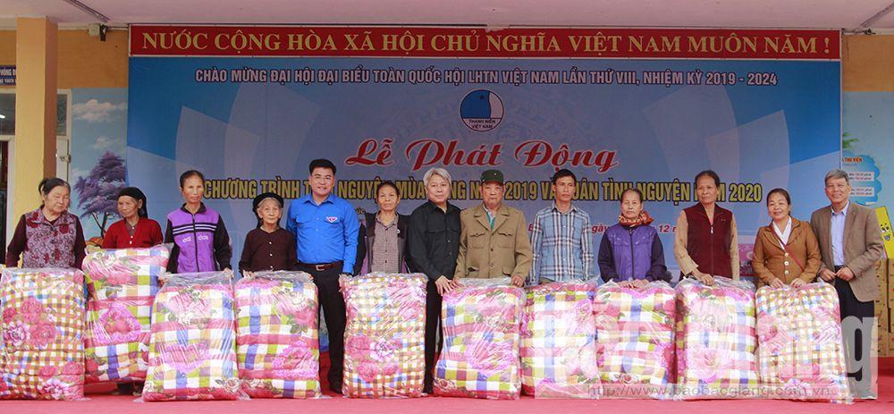 Bắc Giang, tình nguyện mùa Đông năm 2019, xã Trường Giang, huyện Lục Nam, Hội Liên hiệp Thanh niên Bắc Giang