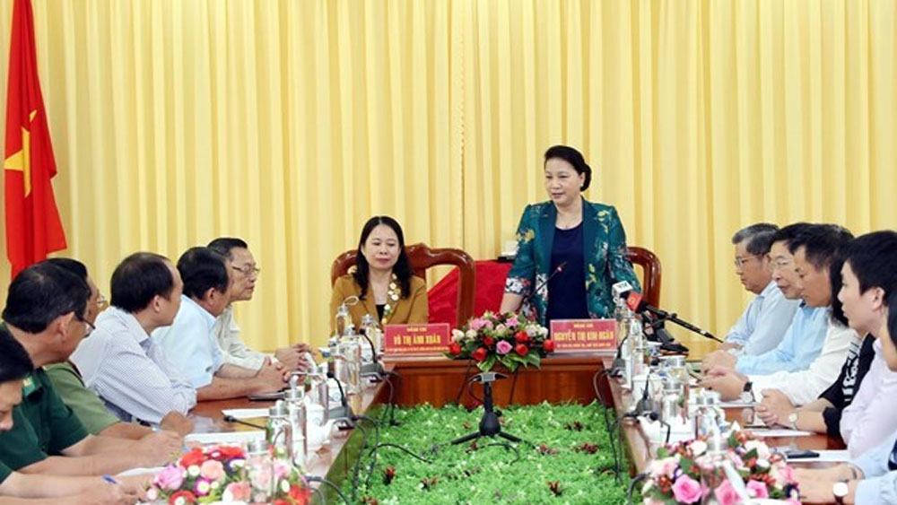 NA leader, An Giang border guard force, Nguyen Thi Kim Ngan, political security, people-to-people diplomacy, regional domestic product