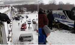 Nga: Xe buýt lao xuống sông, ít nhất 19 người thiệt mạng