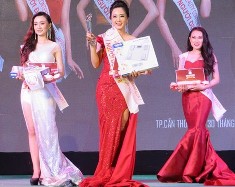 Can Tho University students, Vietnam-Japan, Beauty Contest, highest prizes, Le Thi Cam Tien, Phan Thi My Nhien, Huynh Vo Uyen Nhi, bilateral diplomatic ties