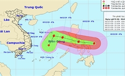 Xuất hiện bão giật cấp 17 gần Biển Đông