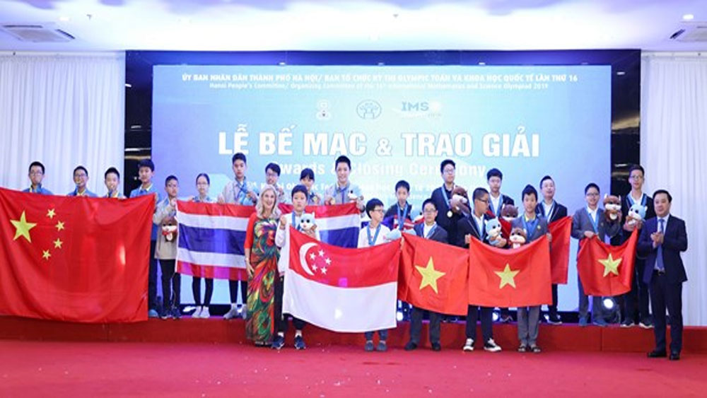Vietnam students, most golds, IMSO 2019, 16th International Mathematics and Science Olympiad, maths and science