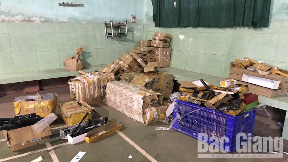 Bắc Giang, 500 gói bưu phẩm, linh kiện lắp ráp súng hơi, Công an tỉnh Bắc Giang
