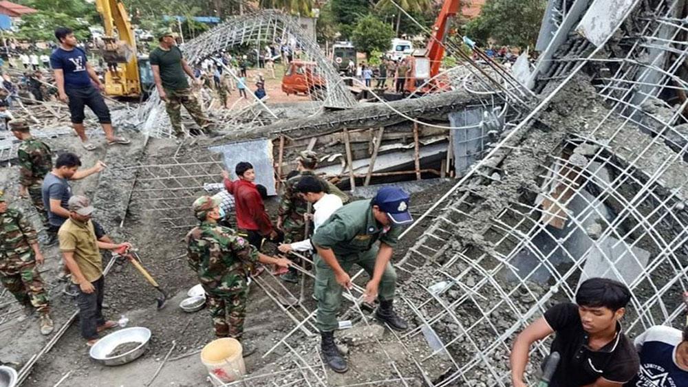 Sập chùa ở Campuchia làm 3 người chết và hàng chục người bị vùi lấp