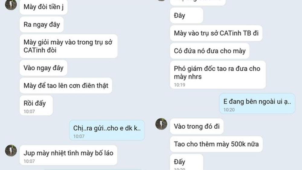 """Lái xe taxi tố nữ Trung tá Công an tỉnh Thái Bình """"quỵt"""" nợ"""