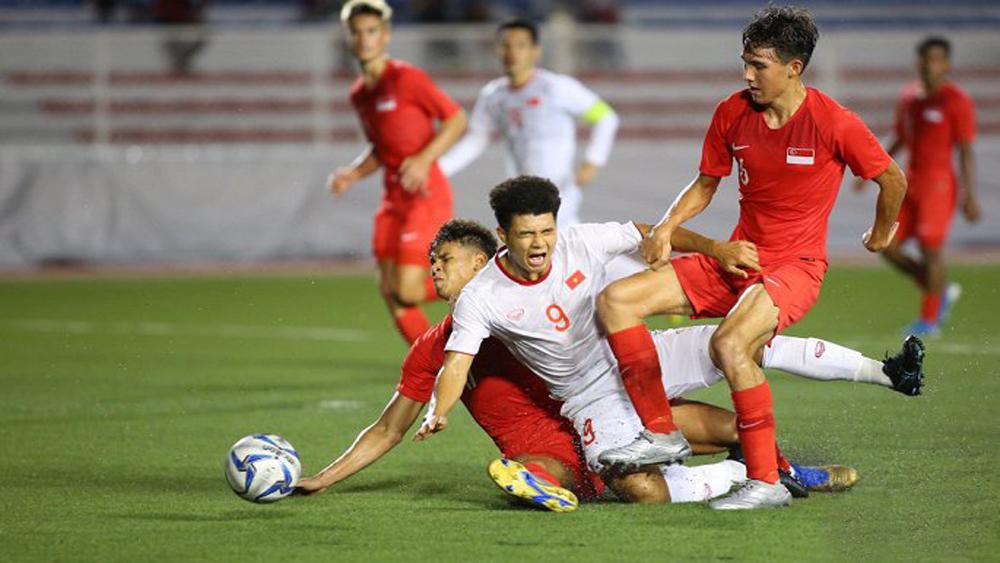 Đức Chinh ghi bàn, U22 Việt Nam thắng sít sao U22 Singapore