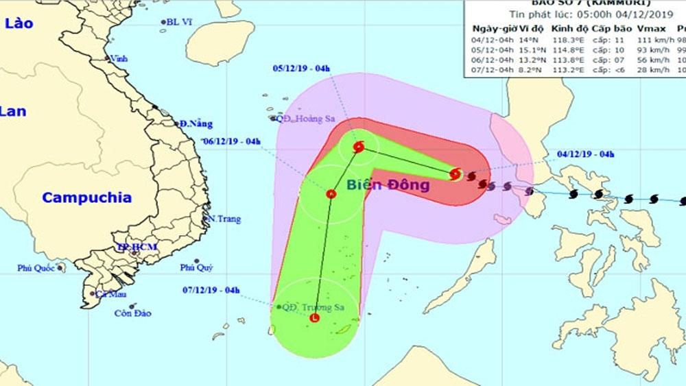 Bão giật cấp 14, đảo Song Tử Tây, khoảng 540 km, bão số 7