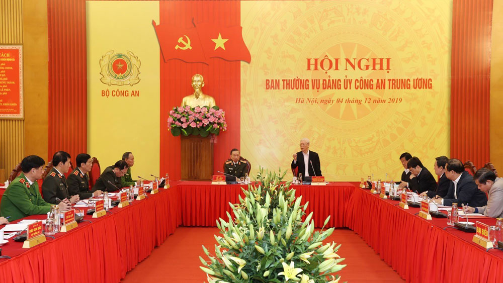 Tổng Bí thư, Chủ tịch nước Nguyễn Phú Trọng đánh giá 10 kết quả nổi bật của lực lượng Công an trong năm 2019