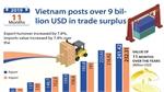 Vietnam posts over 9 billion USD in trade surplus