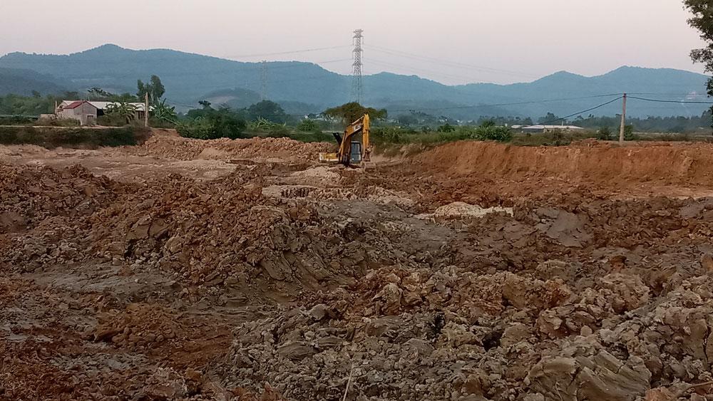 Khai thác đất trái phép, Xã Yên Lư, Yên Dũng, xử lý, nghiêm hành vi khai thác đất trái phép