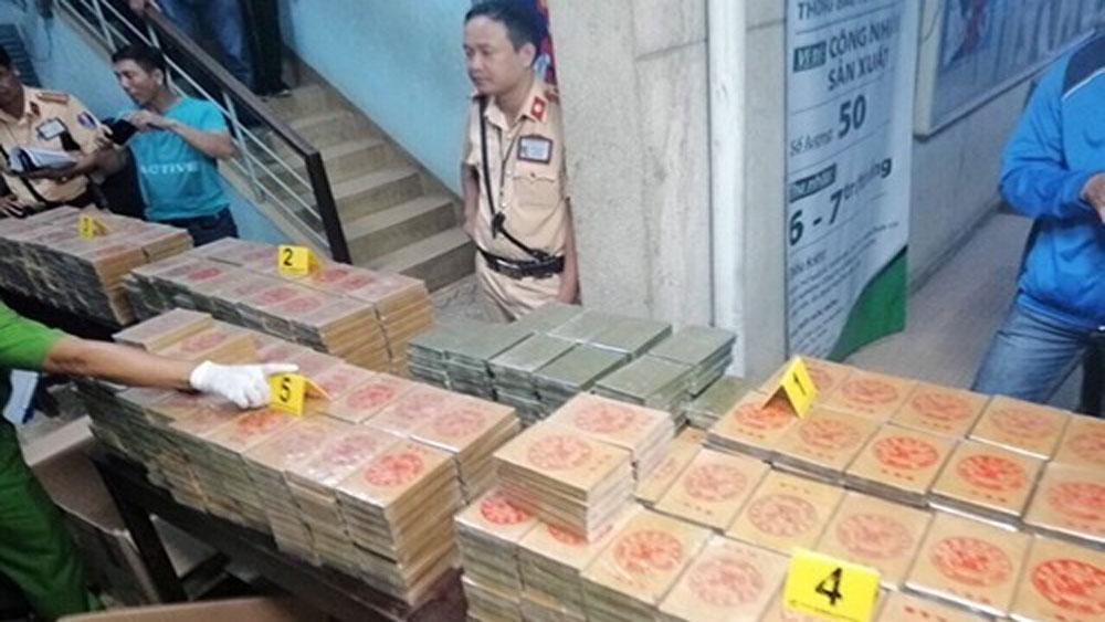 Bộ Công an, thu lô ma túy, 180 tỷ đồng ở TP HCM, 446 bánh heroin