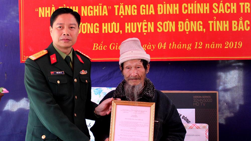 Công ty 45, trao tặng nhà tình nghĩa, gia đình chính sách, Quân đội nhân dân Việt Nam
