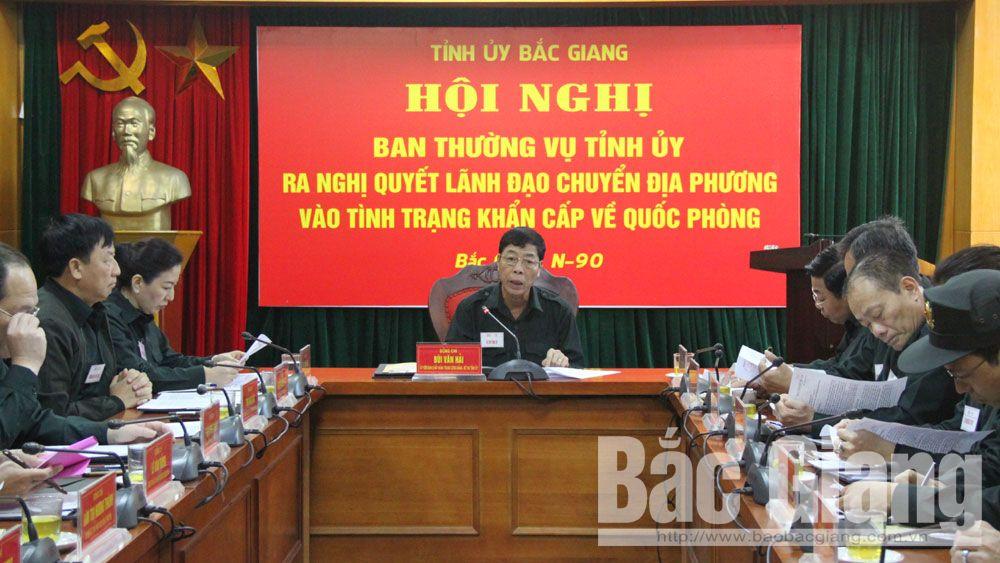 phòng thủ, khai mạc, diễn tập, khu vực phòng thủ, tỉnh Bắc Giang.