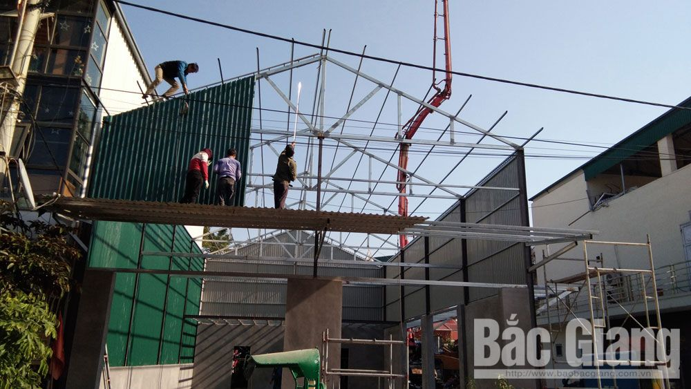 tai nạn lao động, công trình dân dụng, xây dựng, bắc Giang