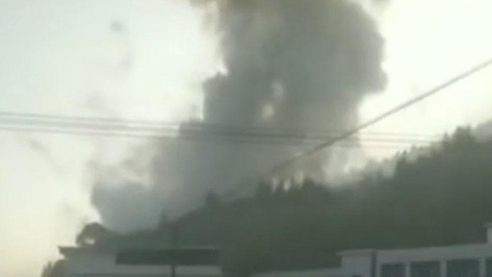 Nổ nhà máy pháo hoa ở Trung Quốc, thiệt mạng, thành phố Lưu Dương, tỉnh Hồ Nam, Trung Quốc