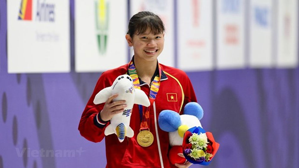 SEA Games 30, Swimmer Vien, Nguyen Thi Anh Vien, gold medals, 30th Southeast Asian Games, third position