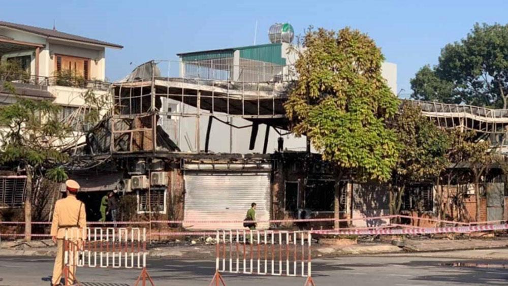 Vĩnh Phúc, Cháy quán ăn, 4 người thiệt mạng