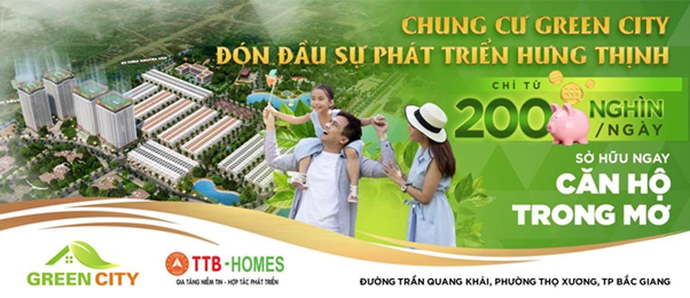 Sản phẩm mới tòa Lotus 2, dự án chung cư Green City Bắc Giang, hoàn thiện móng