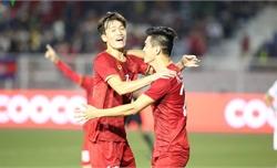 Bán kết bóng đá nam SEA Games U22 Việt Nam-U22 Campuchia (hiệp 1): Tiến Linh mở tỷ số, Đức Chinh lập cú đúp