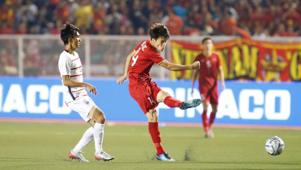 Bán kết, bóng đá nam, SEA Games, U22 Việt Nam, U22 Campuchia, Nguyễn Tiến Linh, mở tỷ số